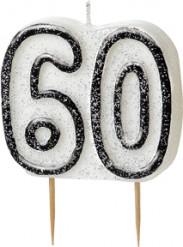 Candelina 60 anni grigia