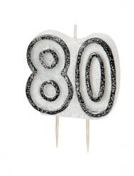Candelina 80 anni grigia