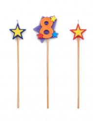 Set candeline alte e numero 8
