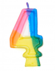 Candelina multicolore numero 4