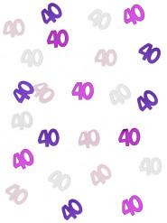 Coriandoli per festa dei 40 anni rosa e grigi