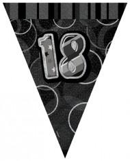 Ghirlanda bandierine  festa 18 anni