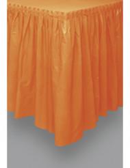 Gonna arancione in plastica per tavolo