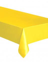 Tovaglia rettangolare in plastica gialla