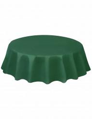 Tovaglia tonda di plastica  di colore verde scuro