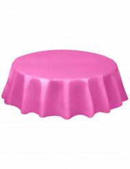 Tovaglia rotonda in plastica rosa