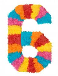 Pignatta a forma di numero 6