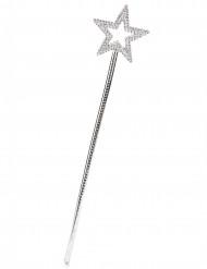 Bacchetta magica con stella argentata adulto e bambino