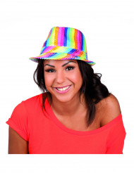 Cappello borsalino multicolor con paillettes