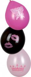 6 palloncini tema principessa