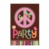 8 inviti di compleanno Hippie