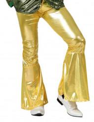 Pantalone disco dorato da uomo