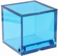 4 Scatole cubiche turchesi semitrasparenti
