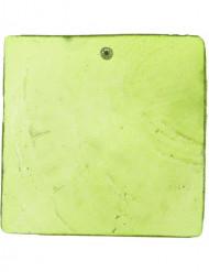 6 segnaposto verdi quadrati