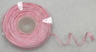 Rotolo di rafia con filo metallico rosa