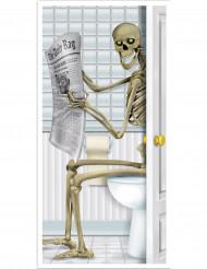 Decorazione scheletro porta del bagno Halloween