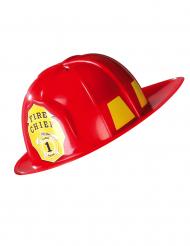 Casco da Pompiere rosso per adulto