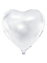 Palloncino alluminio cuore bianco 45 cm