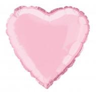 Palloncino in alluminio rosa a forma di cuore 45 cm
