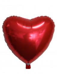 Palloncino rosso in alluminio a forma di cuore