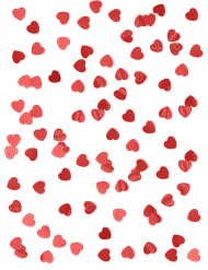 Sacchetto di coriandoli rossi metallizzati a forma di cuore