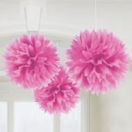 3 pon pon a sfera rosa