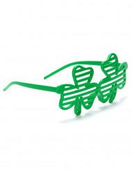Occhiali a forma trifoglio verde San Patrizio