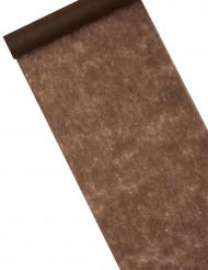 Runner da tavolo color cioccolato di 10 m
