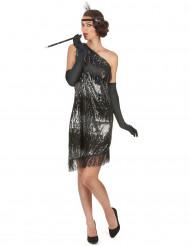 Costume argento e nero donna anni '20.