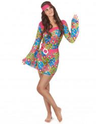 Costume Hippy floreale per donna