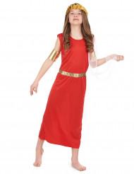 Costume rosso da romana bambina