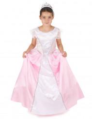 Costume rosa e bianco da principessa per bambina