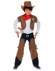 Travestimento da cowboy con coprigambe per bambino