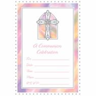 20 inviti per Comunione rosa