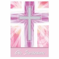 8 inviti per Comunione rosa