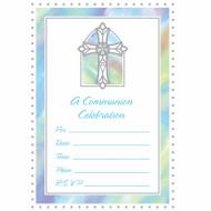 20 inviti blu per comunione