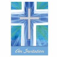 Inviti per comunione o battesimo blu