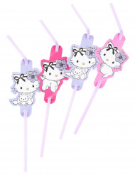 6 cannucce Charmy Kitty™ con cuori