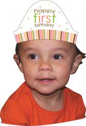 8 cappellini in cartone 1° anno animali bimba
