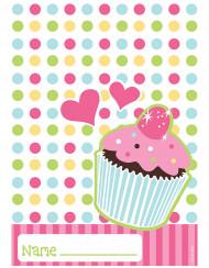8 sacchetti in plastica per compleanno a tema cupcake