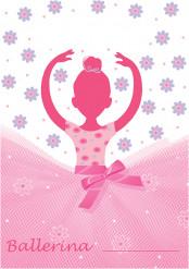 8 sacchetti Ballerina rosa