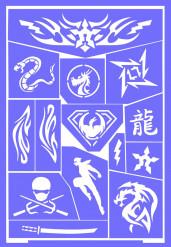 Stencil per trucco ninja Grim Tout