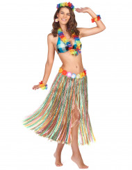 Gonna lunga multicolor in stile Hawaii