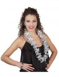Collana hawaiana color argento