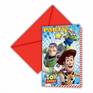 Confezione da 6 inviti Toy Story Start Power™ per feste