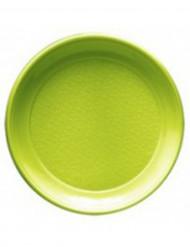 12 piatti verde menta in plastica 22 cm