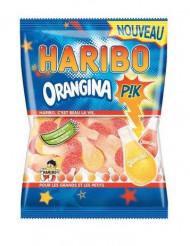 Pacco di caramelle Haribo orangina rosa