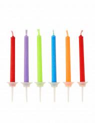 10 candeline colorate per feste di compleanno