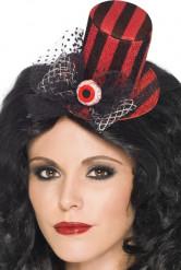 Cappello bicolore con occhio da donna Halloween