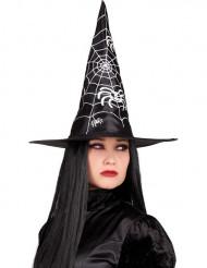 Cappello nero da strega per Halloween da donna